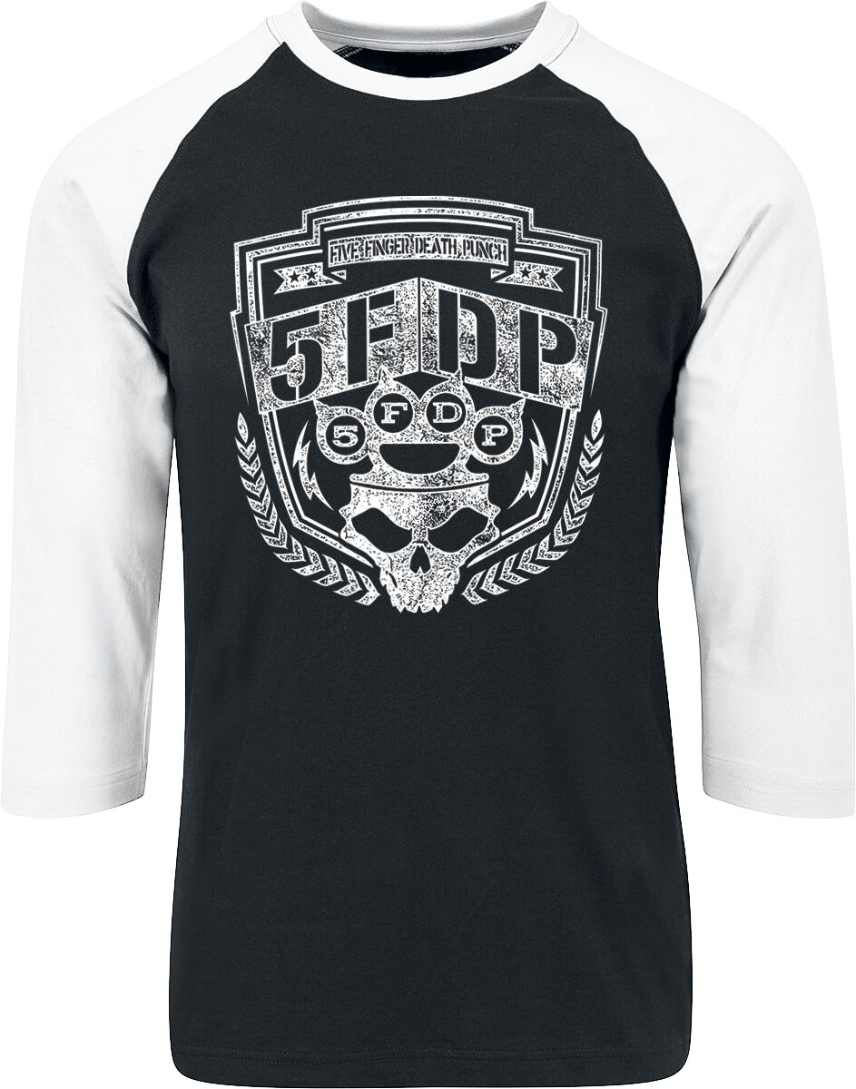 Image of   Five Finger Death Punch Bolt Langærmet sort-hvid