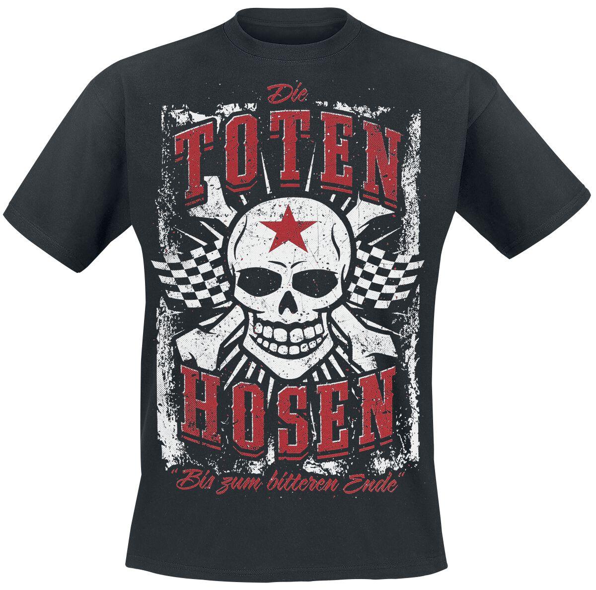Zespoły - Koszulki - T-Shirt Die Toten Hosen Vintage Skull T-Shirt czarny - 355106