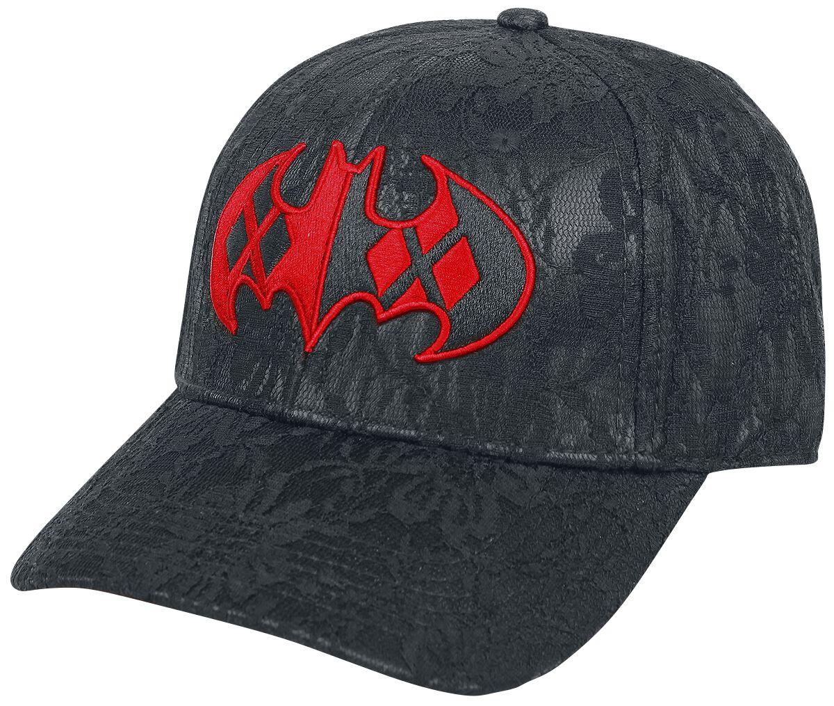 Merch dla Fanów - Czapki i Kapelusze - Czapka baseballowa Harley Quinn Batman Logo Czapka baseballowa czarny/czerwony - 355125