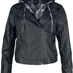 Mickey & Minnie Mouse Moto Jacket Veste Femme noir/gris