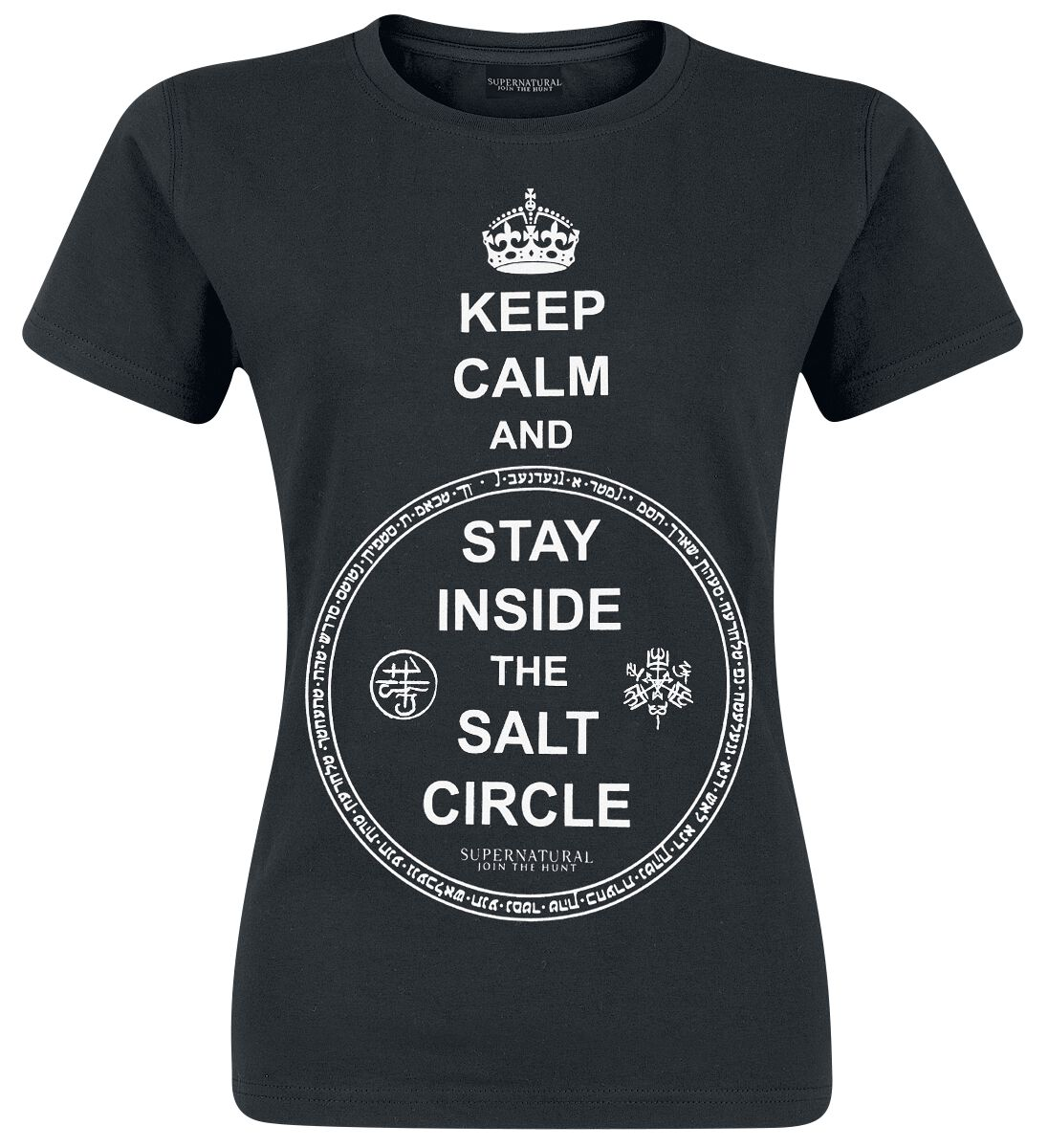 Image of   Supernatural Keep Calm Girlie trøje sort