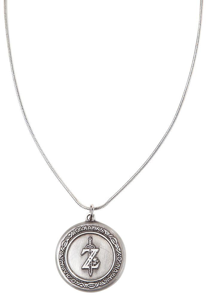Image of   The Legend Of Zelda Breath Of The Wild - Logo Necklace Halskæde sølvfarvet