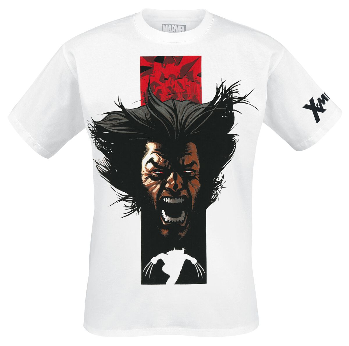 Merch dla Fanów - Koszulki - T-Shirt Wolverine Silver Foil T-Shirt biały - 355323