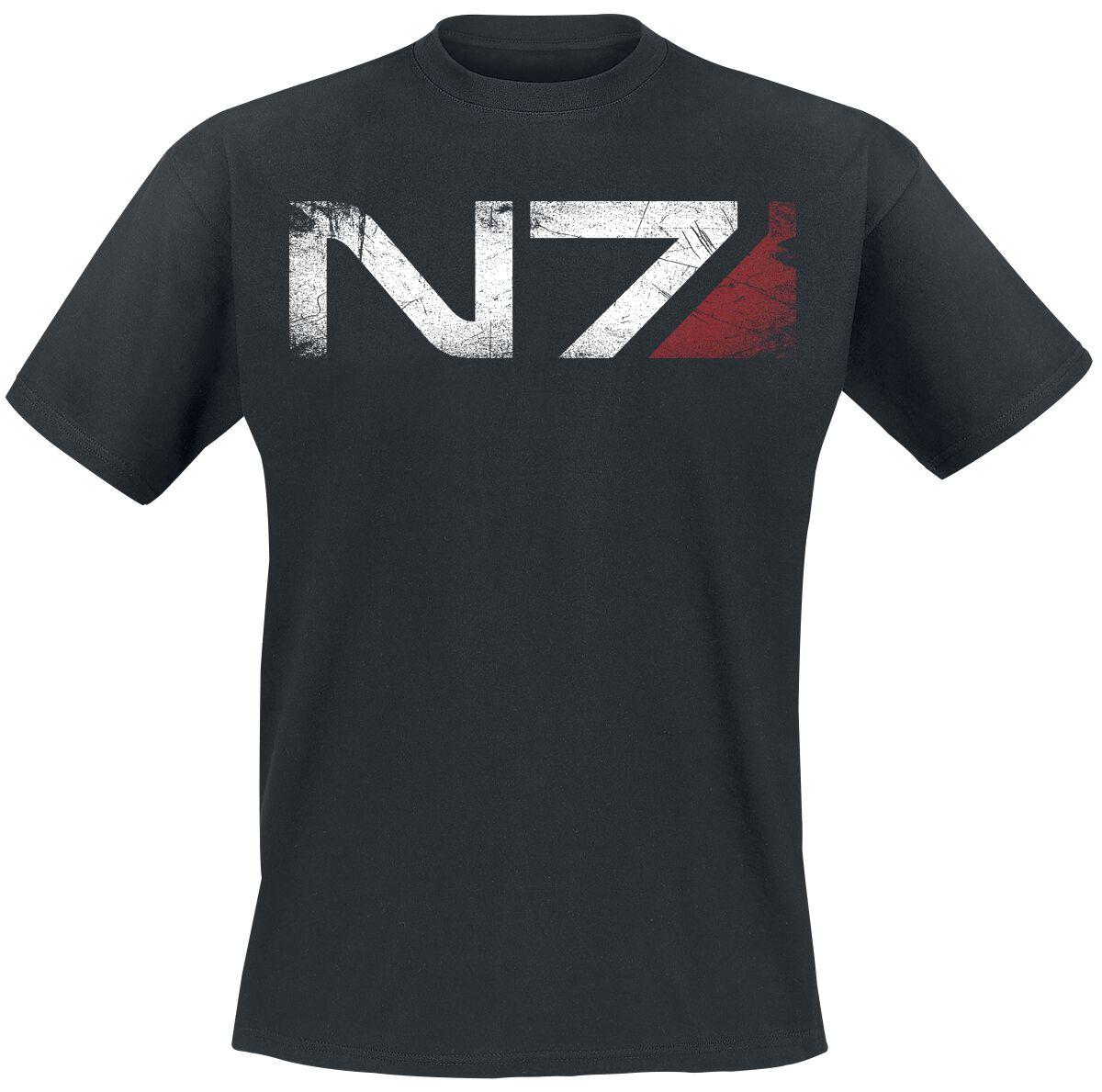 Merch dla Fanów - Koszulki - T-Shirt Mass Effect Andromeda - N7 T-Shirt czarny - 355334