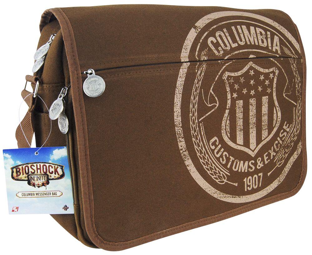 Merch dla Fanów - Torby i Plecaki - Torba na ramię BioShock Columbia Customs & Excise Torba na ramię brązowy - 355341
