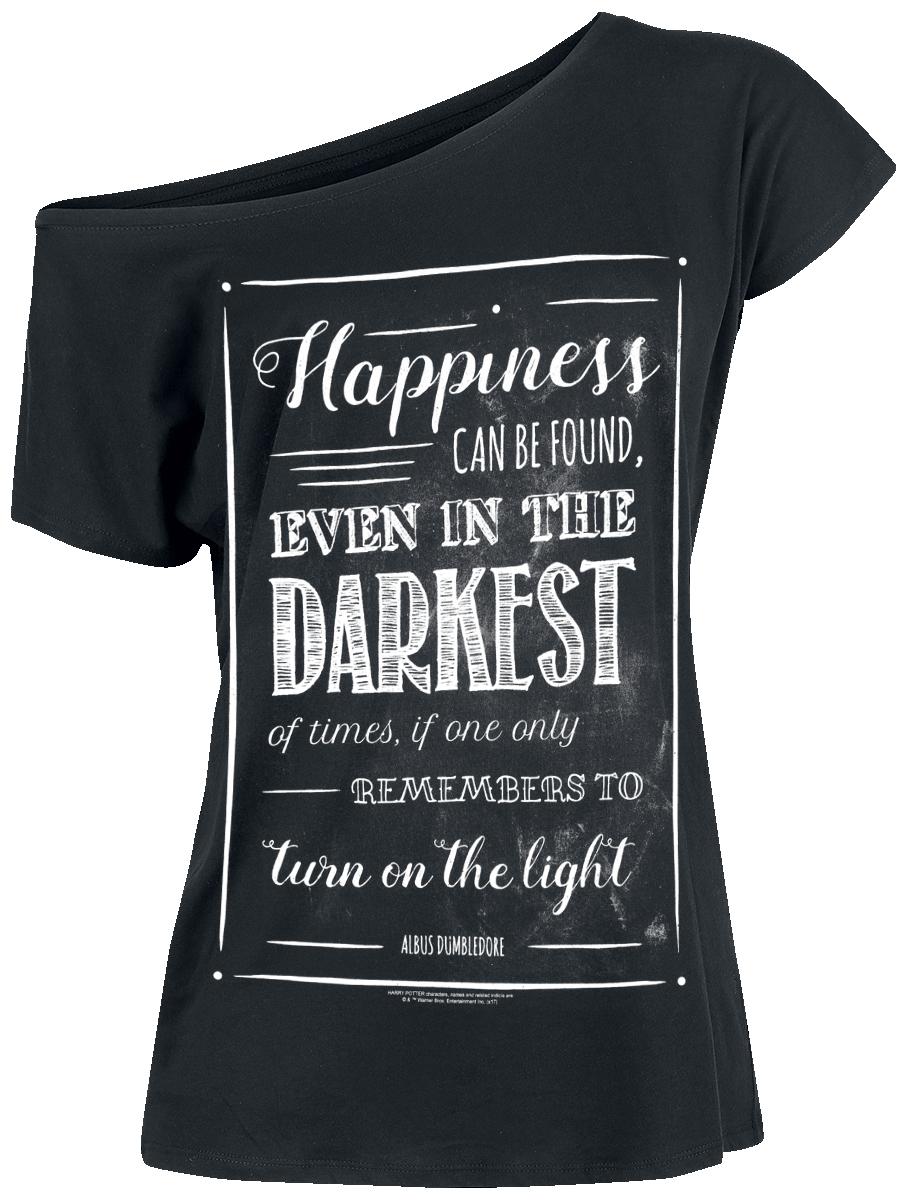 Harry Potter Happiness Can Be Found Koszulka damska czarny