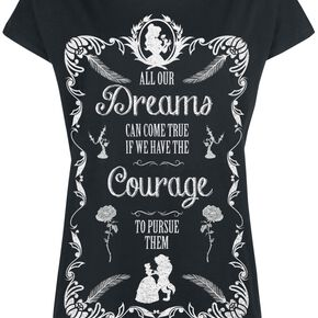 La Belle Et La Bête All Our Dreams T-shirt Femme noir
