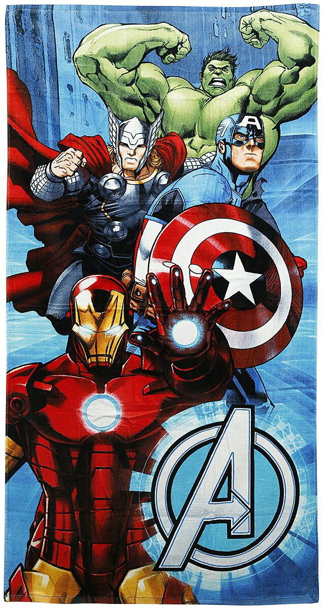 Merch dla Fanów - Ręczniki - Ręcznik plażowy Avengers Metal Ręcznik plażowy standard - 355435