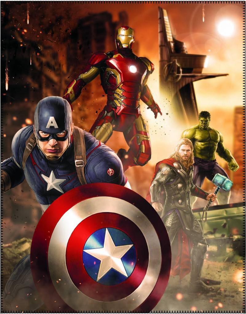 Merch dla Fanów - Ręczniki - Ręcznik plażowy Avengers Age Of Ultron Ręcznik plażowy wielokolorowy - 355437