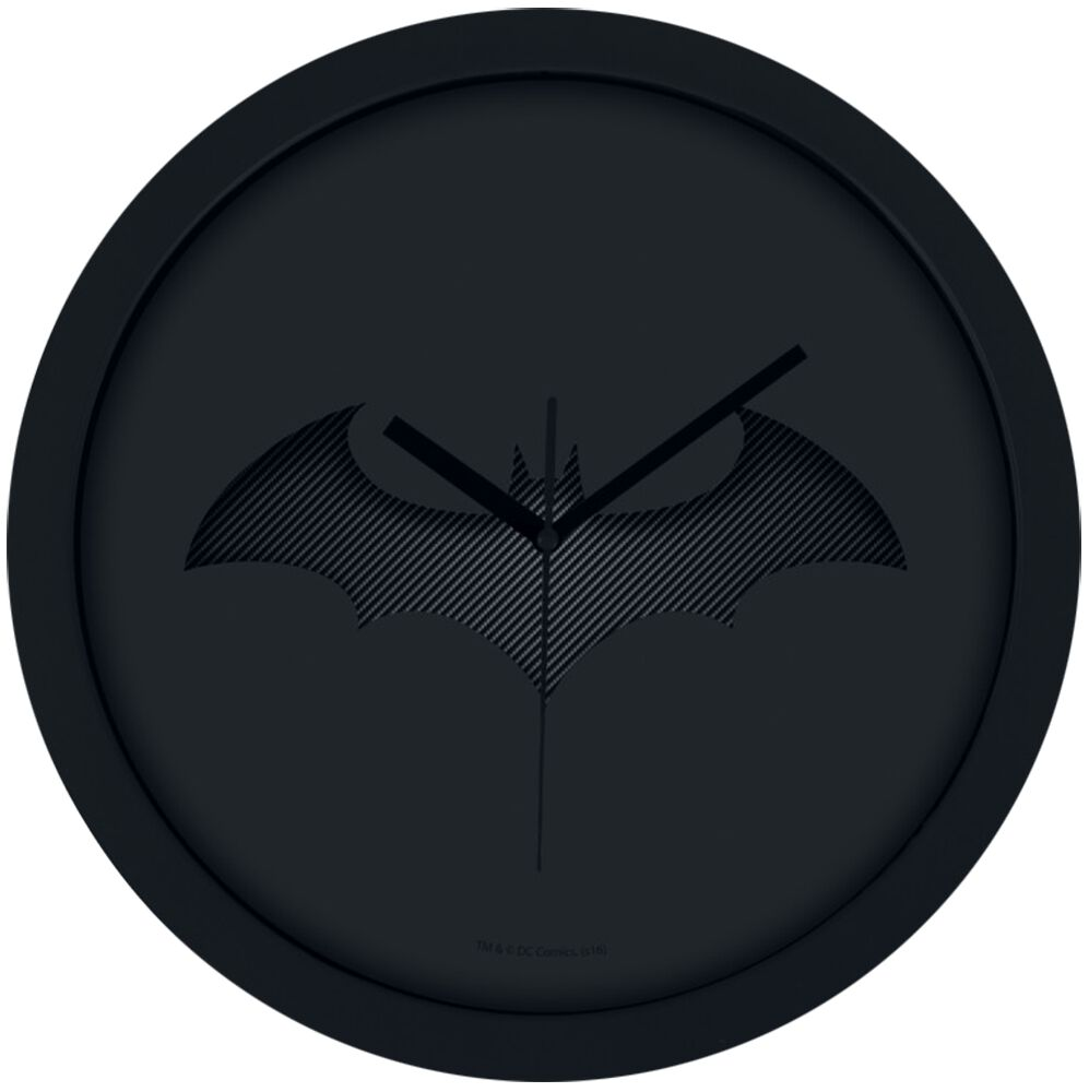 Image of   Batman Bat-Logo Vægur sort
