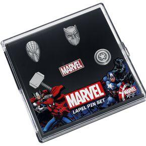 Marvel Icons Lot de pin's gris