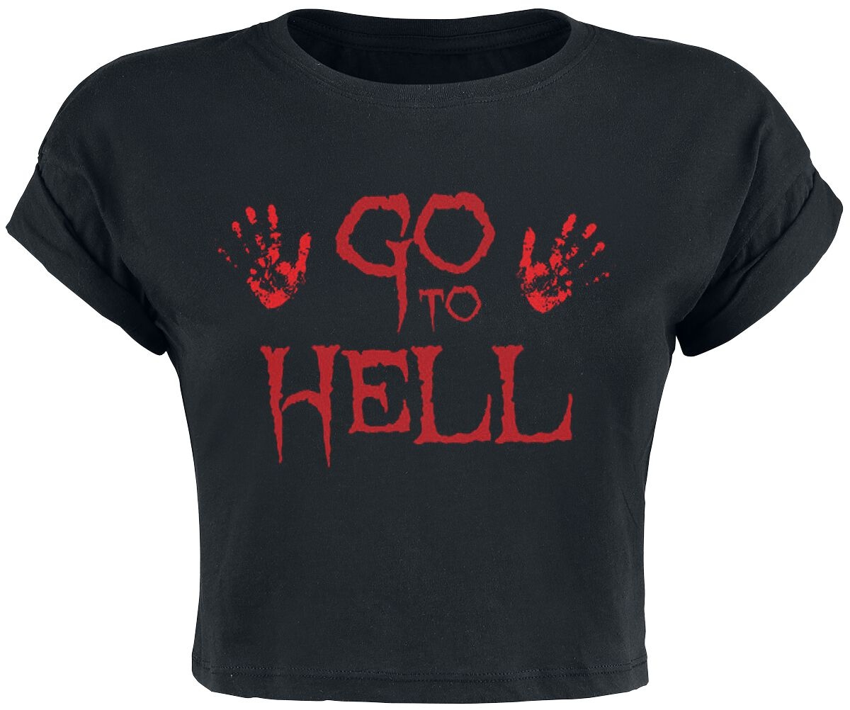 Fun Shirts - Topy - Top damski Go To Hell Cropped Top Top damski czarny - 355519