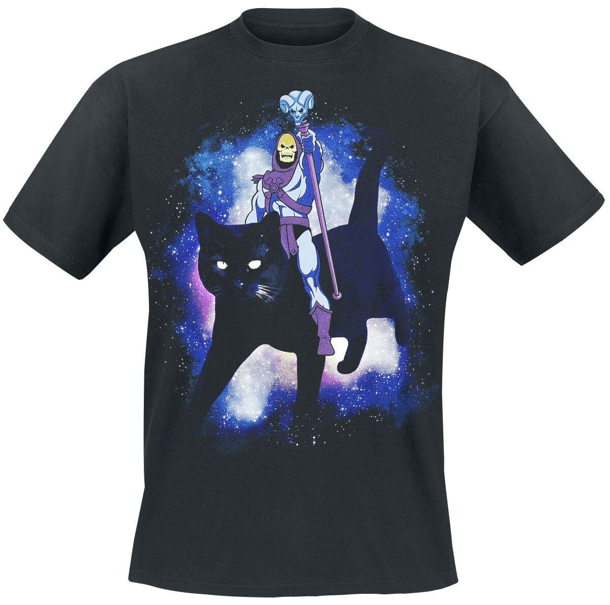 Merch dla Fanów - Koszulki - T-Shirt He-Man And The Masters Of The Universe Skeletor - Black Cat T-Shirt czarny - 355539