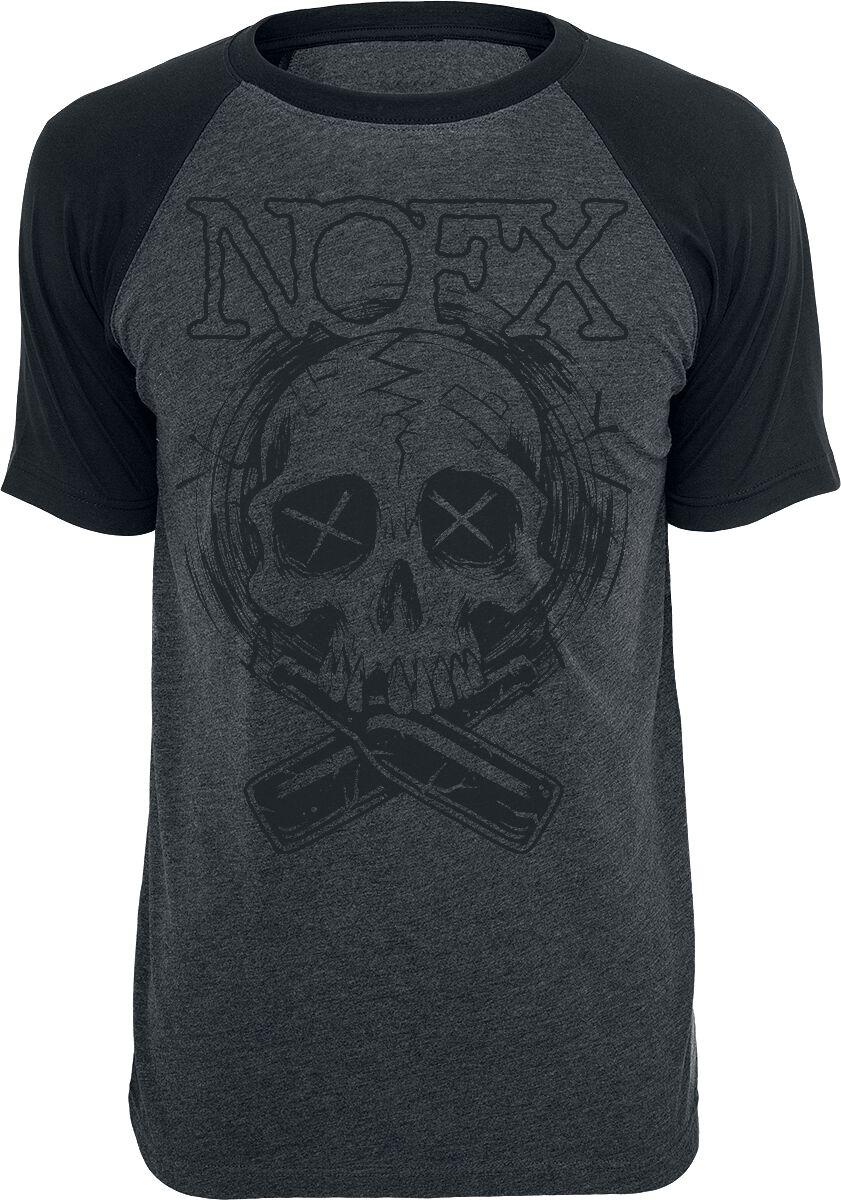 Zespoły - Koszulki - T-Shirt NOFX Skull T-Shirt ciemnoszary/czarny - 355540
