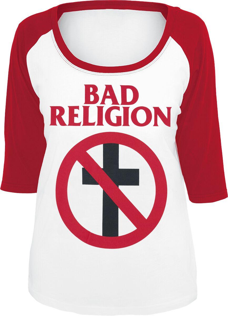 Zespoły - Longsleeve - Longsleeve damski Bad Religion Classic Buster Longsleeve damski biały/czerwony - 355545