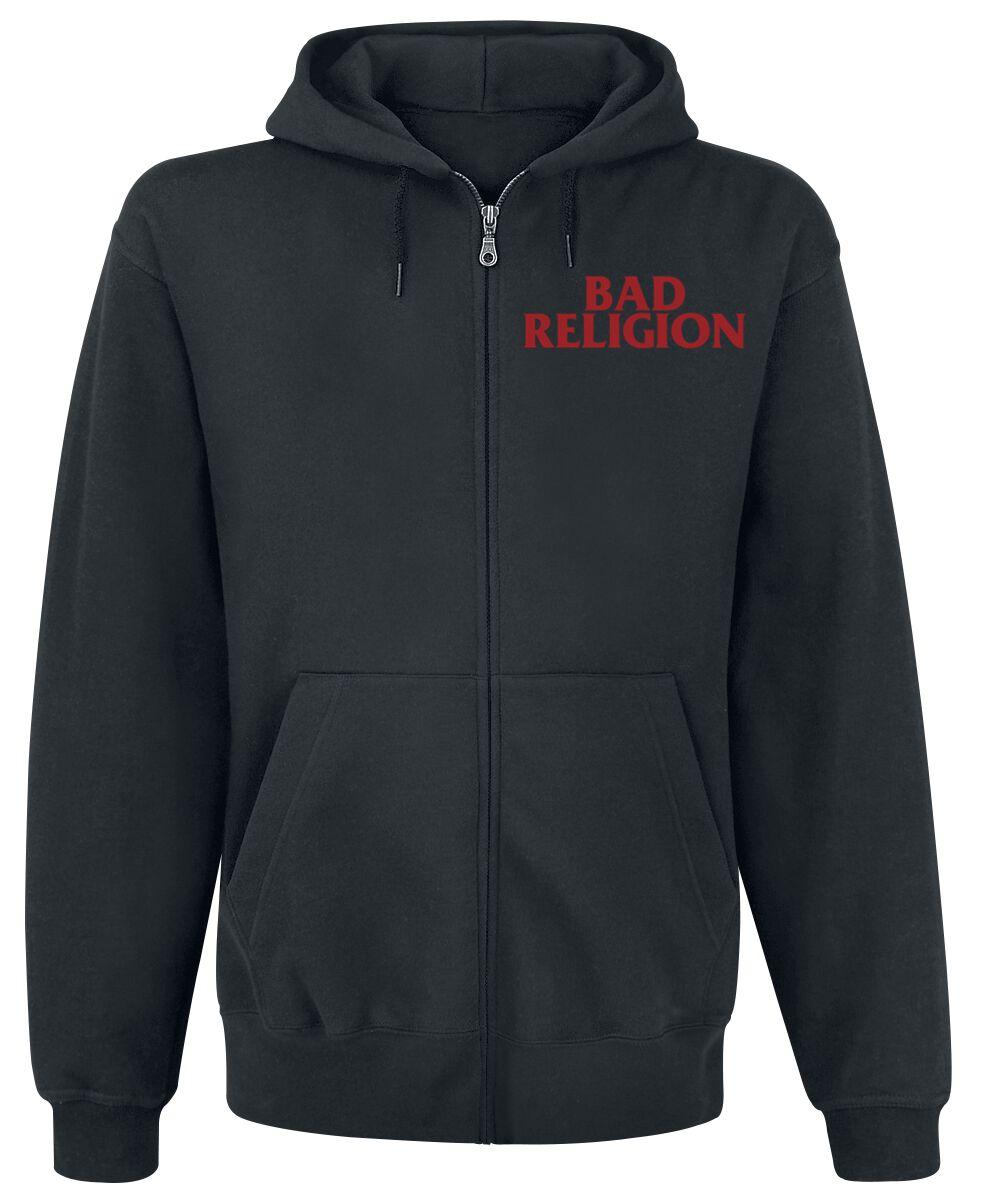 Zespoły - Bluzy z kapturem - Bluza z kapturem rozpinana Bad Religion Classic Buster Bluza z kapturem rozpinana czarny - 355565