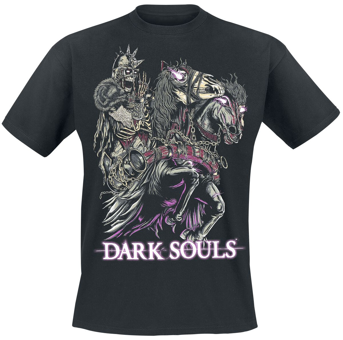Merch dla Fanów - Koszulki - T-Shirt Dark Souls 3 - Zombie Knight T-Shirt czarny - 355664