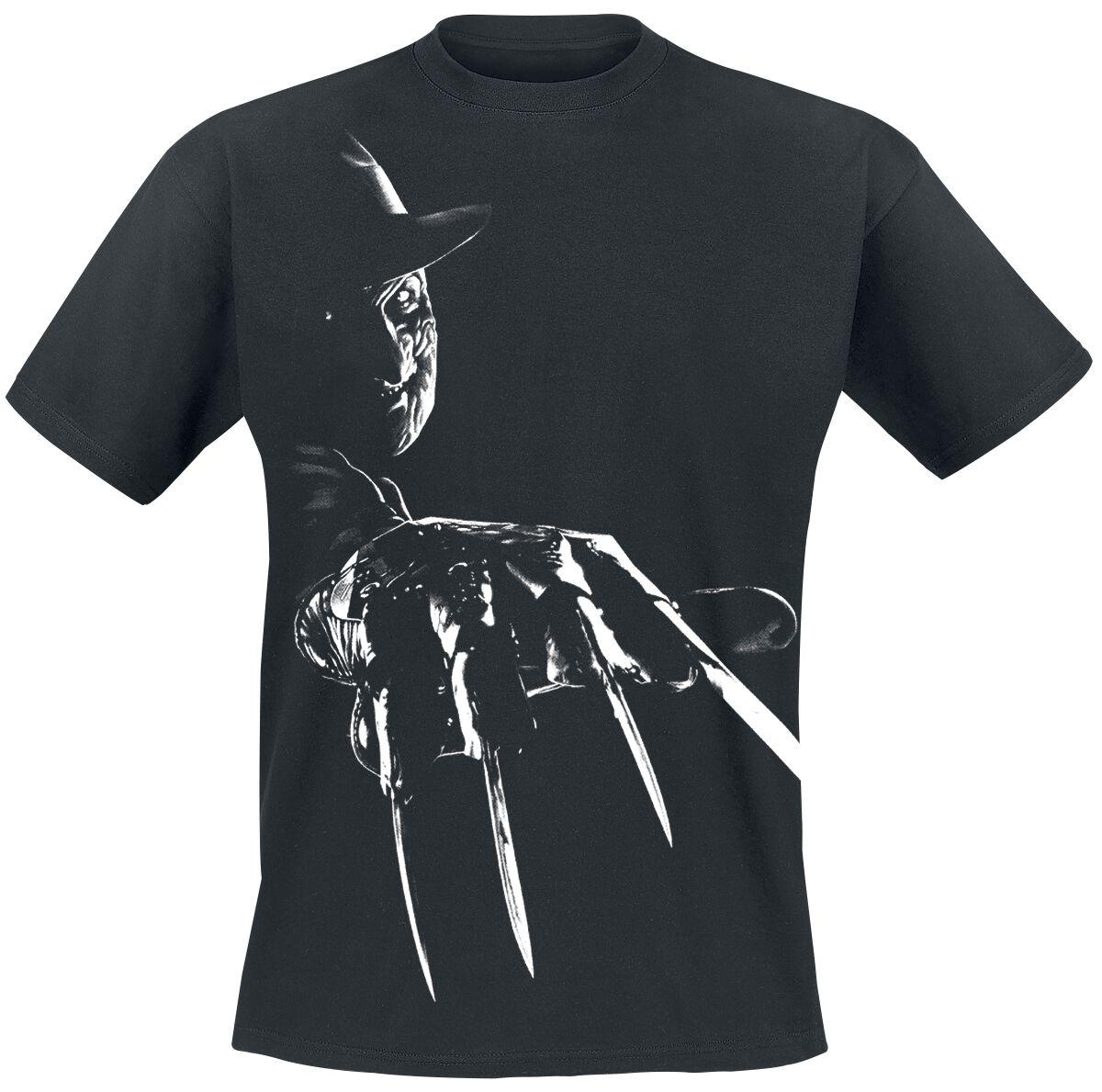 Merch dla Fanów - Koszulki - T-Shirt Koszmar z ulicy Wiązów Freddy Krueger Claws T-Shirt czarny - 355726