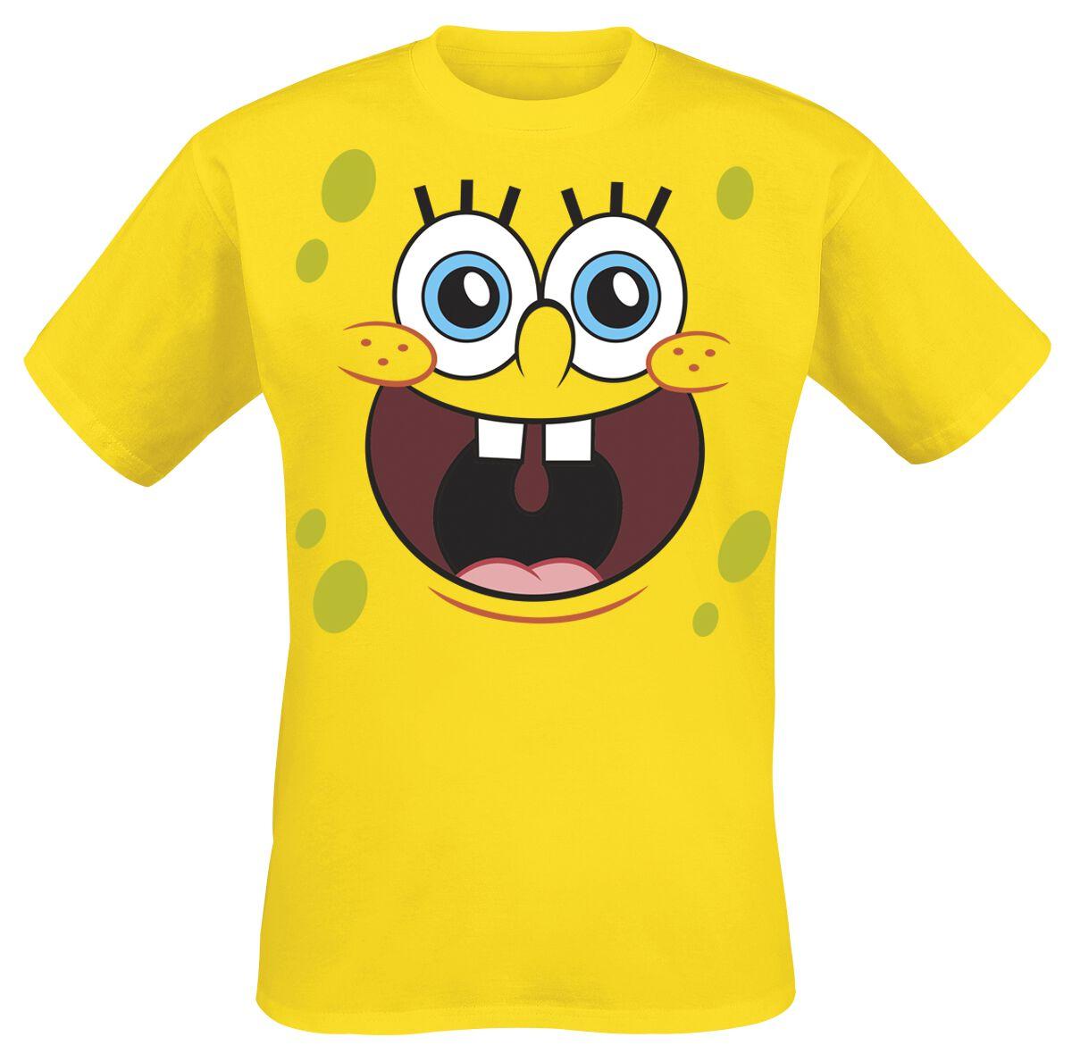 Merch dla Fanów - Koszulki - T-Shirt SpongeBob SquarePants Sponge Happy Face T-Shirt pomarańczowy - 355737