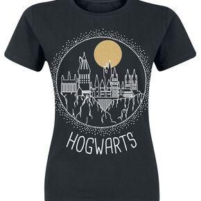 Harry Potter Cercle Poudlard T-shirt Femme noir