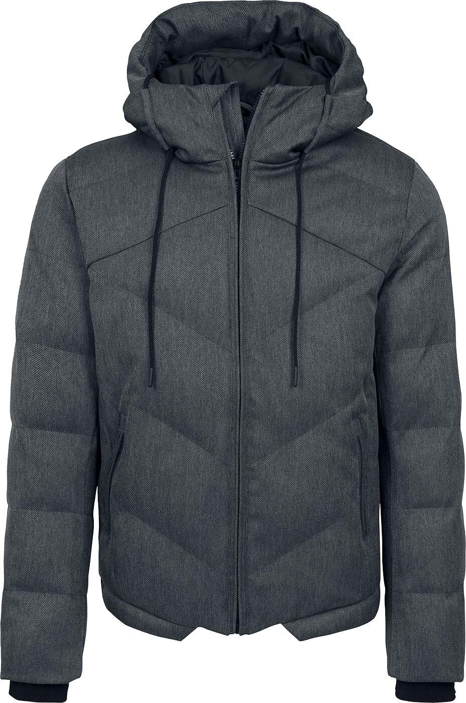 Image of   Urban Classics Heringbone Hooded Winter Jacket Vinterjakker mørk grå