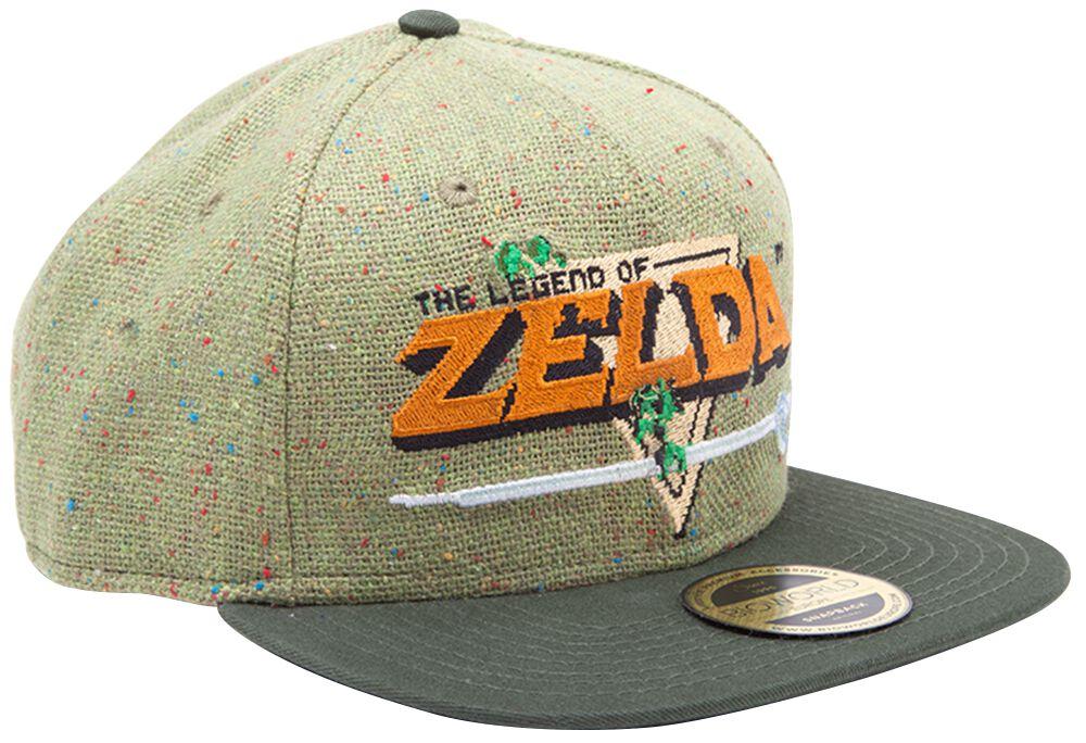 Image of   The Legend Of Zelda 8-Bit Logo Snapback Cap multifarvet