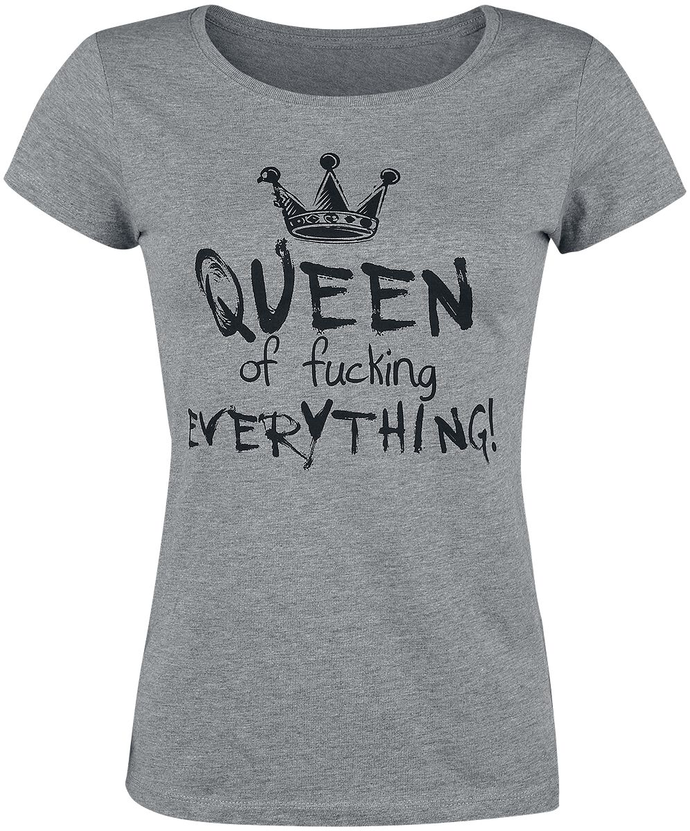 Queen Of Fucking Everything Koszulka damska odcienie szarego