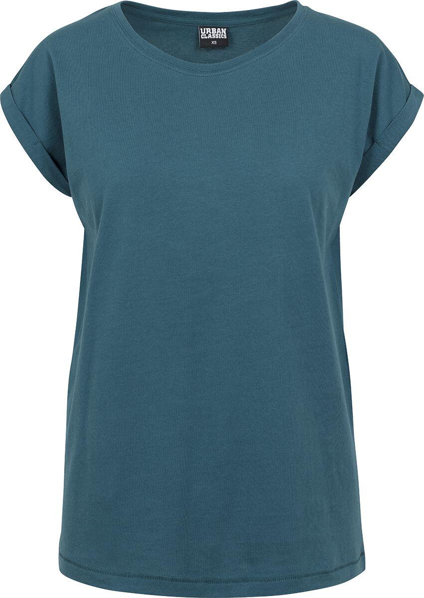 Urban Classics Ladies Extended Shoulder Tee Koszulka damska niebieski (Petrol)