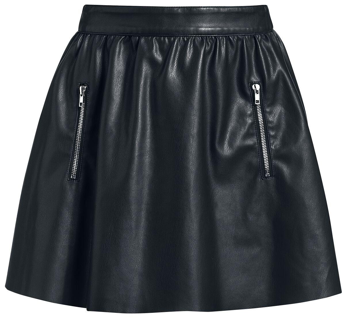 Image of   Fashion Victim Fashion PU Skirt Nederdel sort