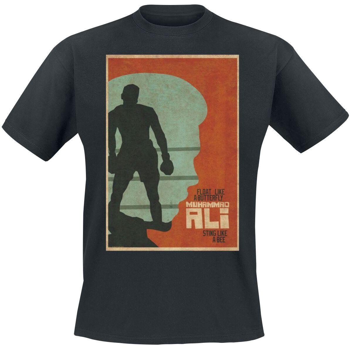 Merch dla Fanów - Koszulki - T-Shirt Muhammad Ali Float Like A Butterfly, Sting Like A Bee T-Shirt czarny - 356251