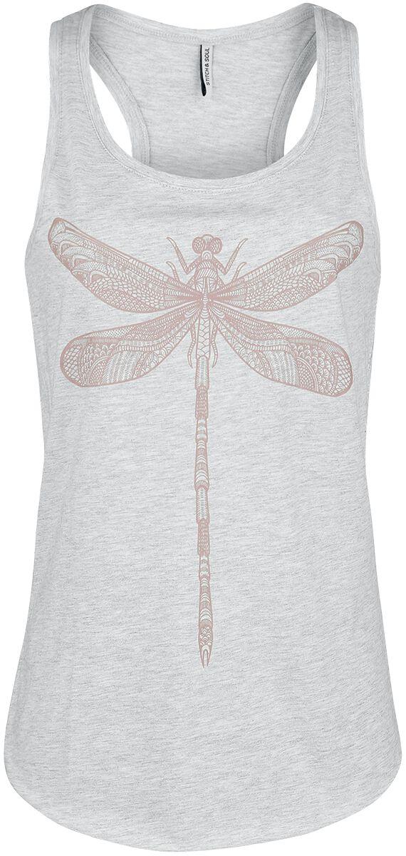 Marki - Topy - Top damski Stitch and Soul Dragonfly Top Top damski odcienie jasnoszarego - 356287
