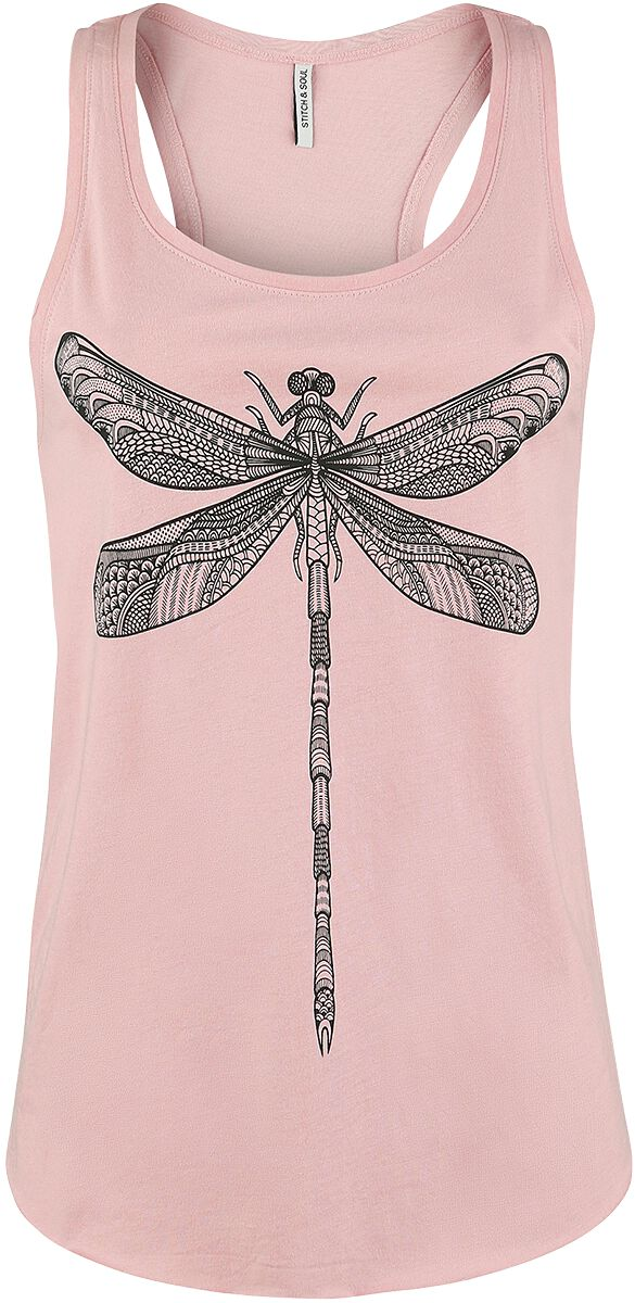 Marki - Topy - Top damski Stitch and Soul Dragonfly Top Top damski jasnoróżowy (Light Pink) - 356290