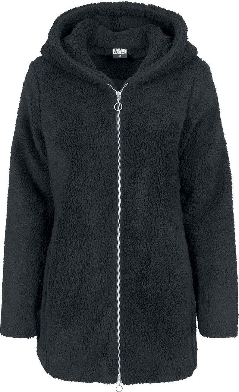 Image of   Urban Classics Ladies Sherpa Jacket Girlie jakke sort