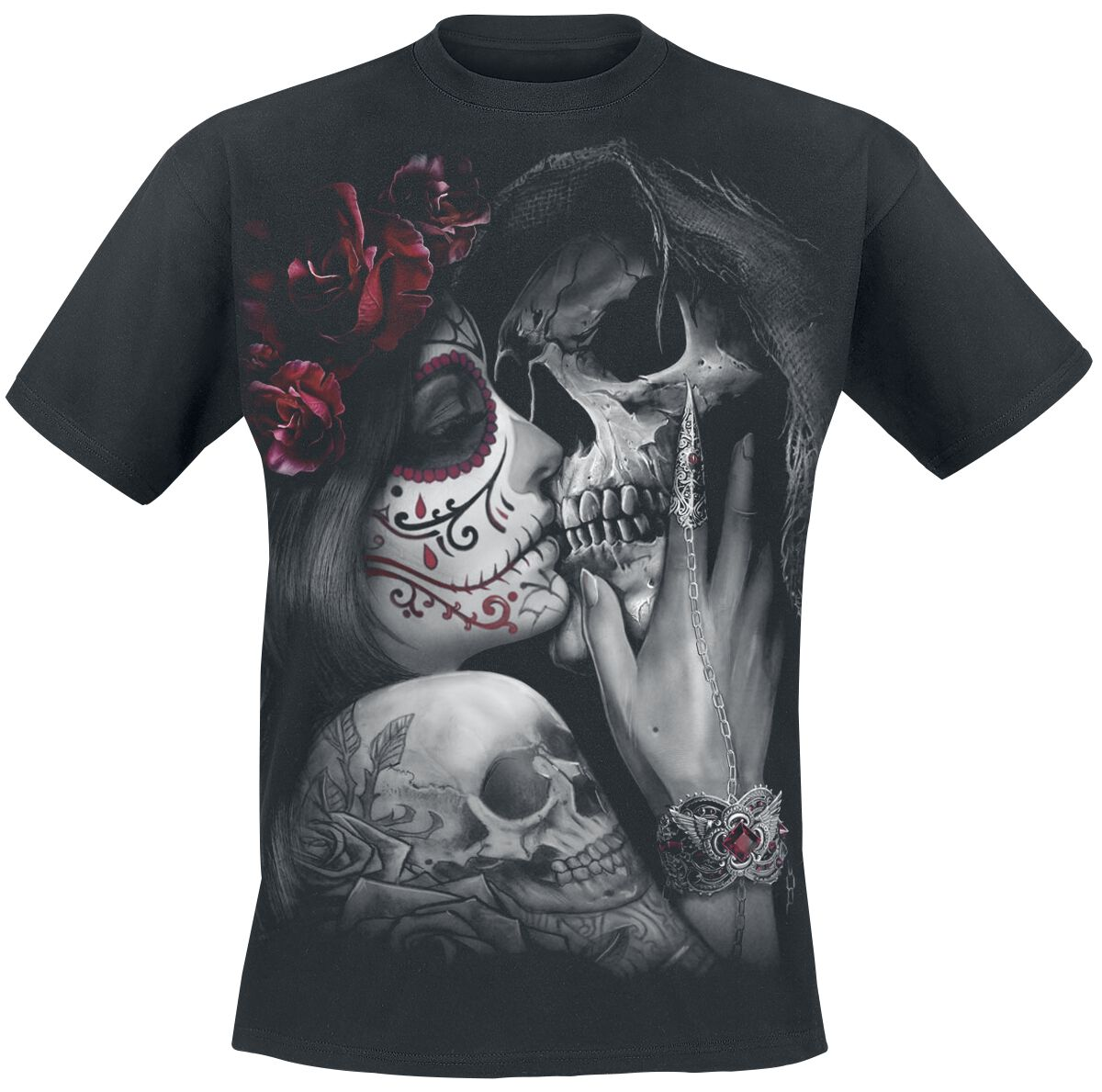 Image of   Spiral Dead Kiss T-Shirt sort