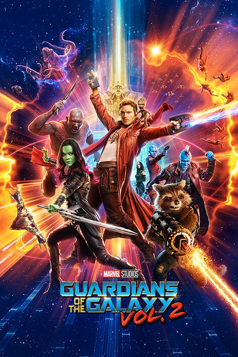 Image of   Guardians Of The Galaxy 2 - Characters Plakat multifarvet