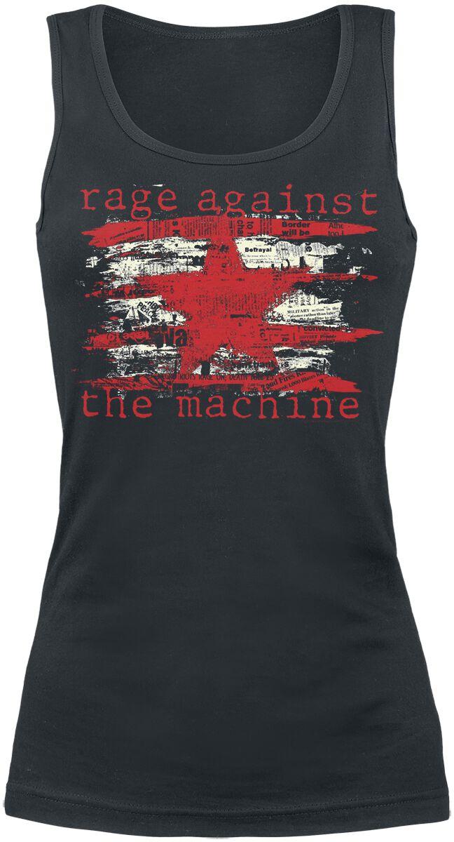 Zespoły - Topy - Top damski Rage Against The Machine Newspaper Star Top damski czarny - 356466