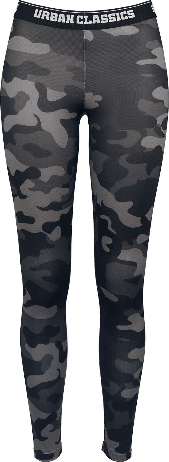 Hosen für Frauen - Urban Classics Ladies Camo Logo Leggings Leggings darkcamo  - Onlineshop EMP