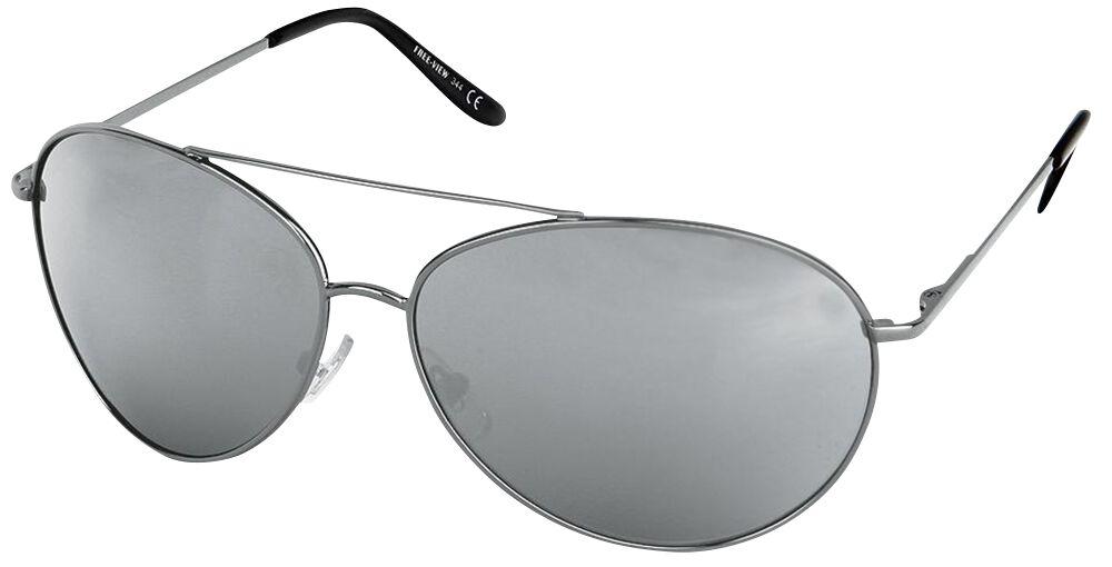 Sonnenbrillen für Frauen - Pilotenbrille Sonnenbrille silberfarben  - Onlineshop EMP