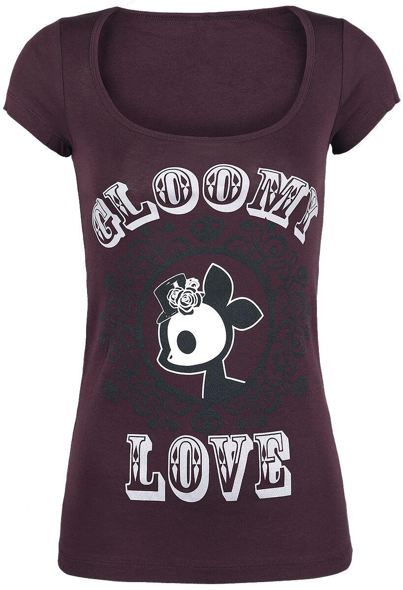 Merch dla Fanów - Koszulki - Koszulka damska Skelanimals Gloomy Love Koszulka damska fioletowy (Plum) - 356643