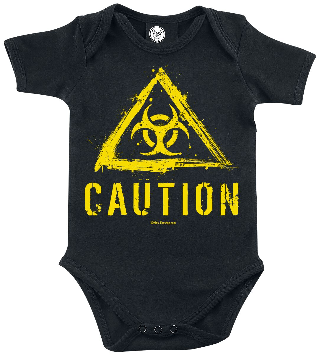 Fun Shirts - Odzież dziecięca i niemowlęca - Body Caution Body czarny - 356679