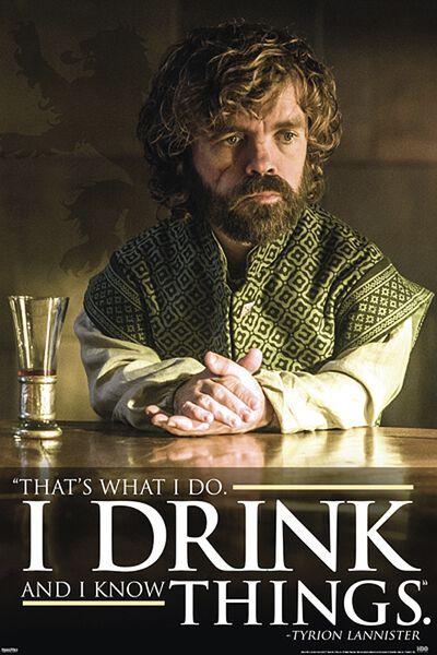 Image of   Game Of Thrones Tyrion Lannister Plakat multifarvet