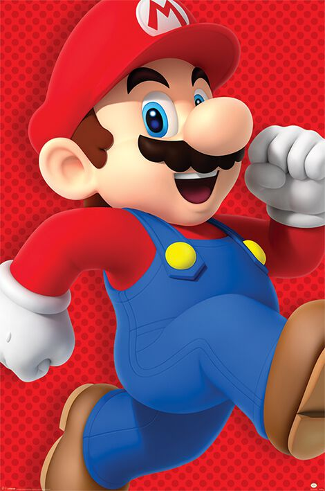 Image of   Super Mario Run Plakat multifarvet