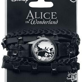 Alice Au Pays Des Merveilles Flower Alice Montre bracelet noir