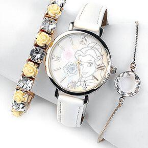 La Belle Et La Bête Belle Montre bracelet blanc/or