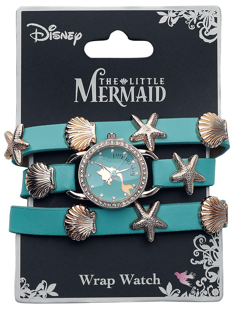 Uhren für Frauen - Arielle die Meerjungfrau Shell Armbanduhr blau  - Onlineshop EMP
