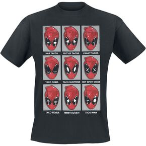 Deadpool Taco Heads T-shirt noir
