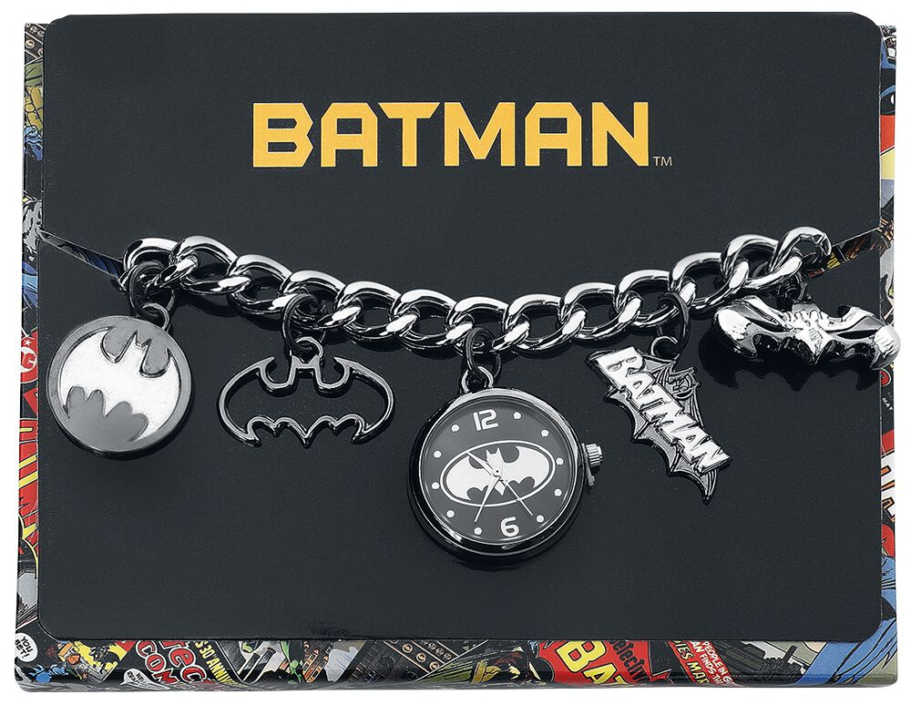 Image of   Batman Logo Charm Watch Armbåndsur sølv-sort