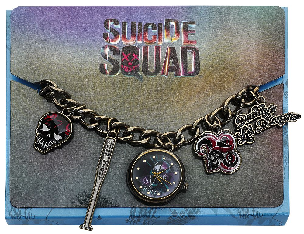 Image of   Suicide Squad Harley Charm Watch Armbåndsur guld