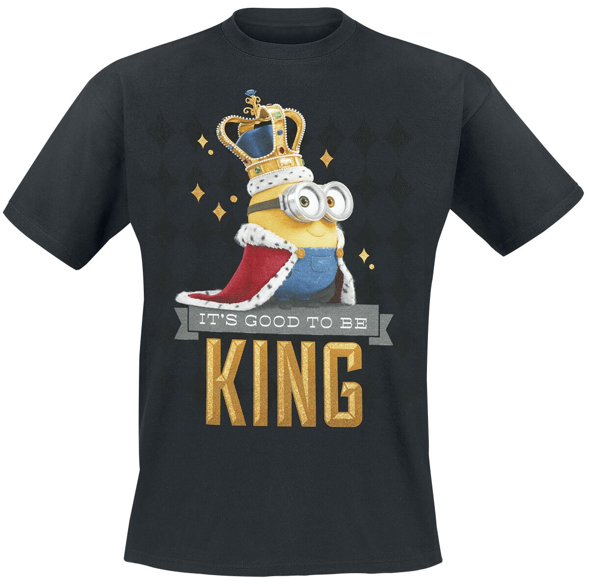 Image of   Minions It's Good To Be King T-Shirt sort