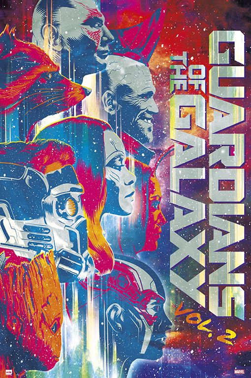 Image of   Guardians Of The Galaxy Vol.2 Plakat multifarvet